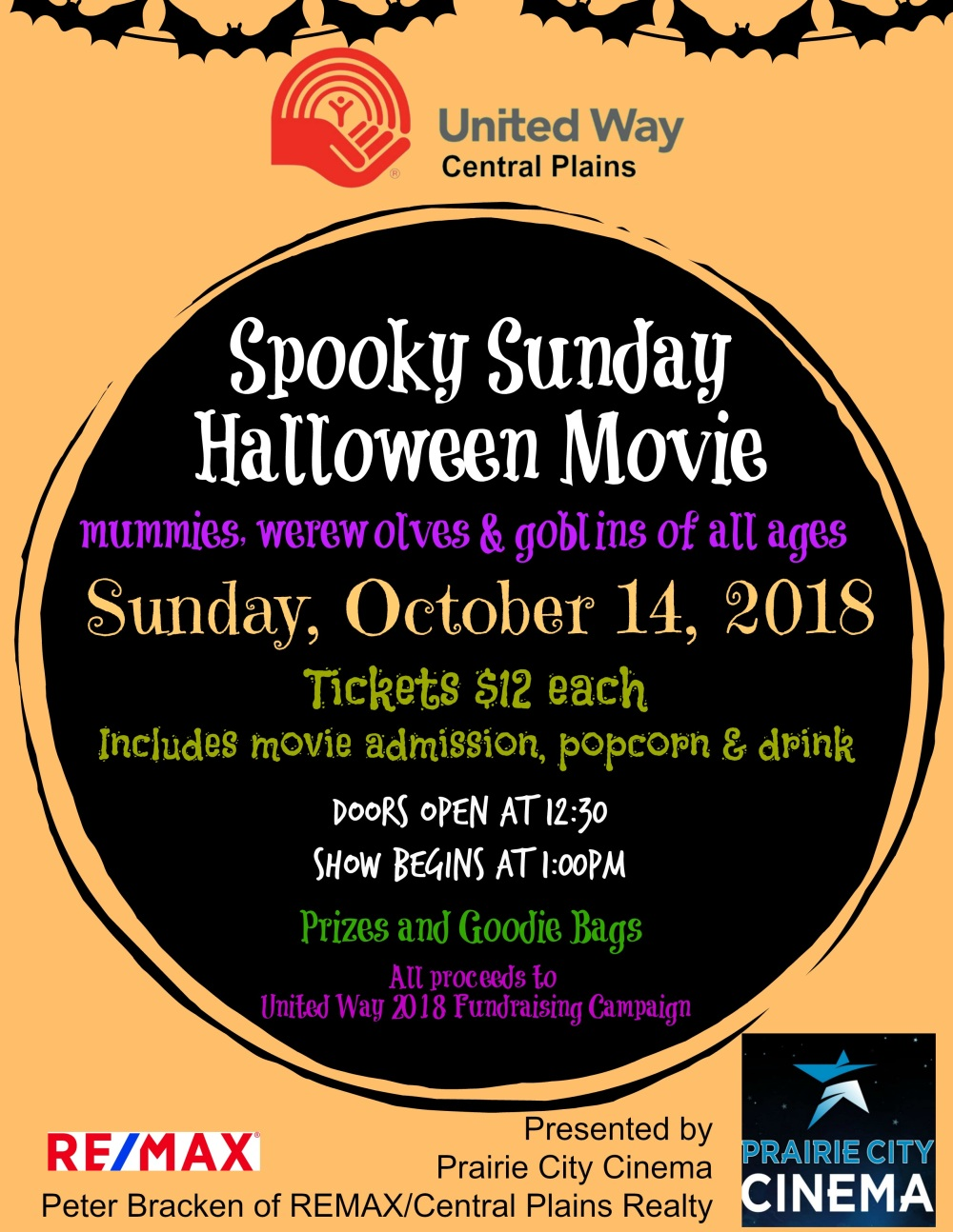 Spooky Sunday Halloween Movie Poster
